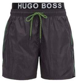 BOSS Hugo Lightweight swim shorts double waistband M Charcoal