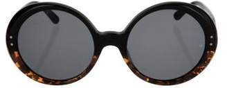 Oliver Goldsmith Opps Round Sunglasses Leopard Opps Round Sunglasses