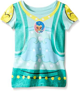 Nickelodeon Toddler Girls Shimmer and Shine Blue Hair Genie Short Sleeve Costume Tee