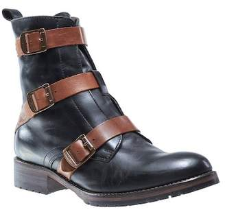 Wolverine Lizzie Waterproof Moto Buckle Leather Boot