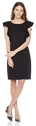 Painted Heart Women's Flutter Sleeve Ponte Fit-and-Flare Dress