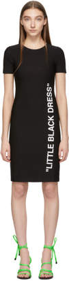 Off-White Black Basic Short Dress