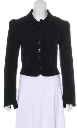 OMO Norma Kamali Collared Button-Up Jacket