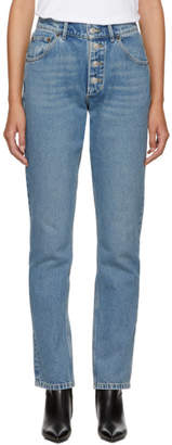 Balenciaga Blue Stonewash Tube Jeans
