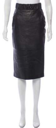 Neil Barrett Leather Pencil Skirt w/ Tags Black Leather Pencil Skirt w/ Tags