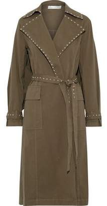 Robert Rodriguez Studded Cotton-blend Twill Trench Coat