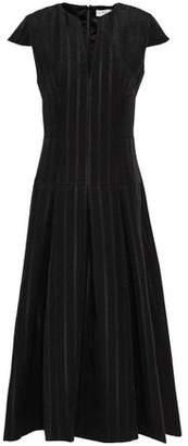 Amanda Wakeley Pleated Jacquard Midi Dress