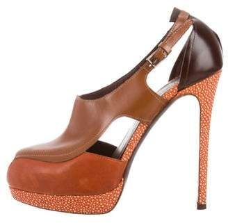 Alberta Ferretti High-Heel Cutout Pumps