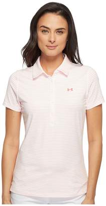 Under Armour Golf Zinger Stripe Polo Women's Short Sleeve Pullover