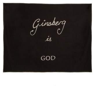 Bella Freud Ginsberg is God-intarsia cashmere-blend blanket