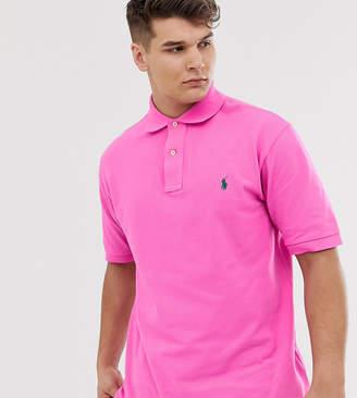 Polo Ralph Lauren Big & Tall player logo pique polo in bright pink