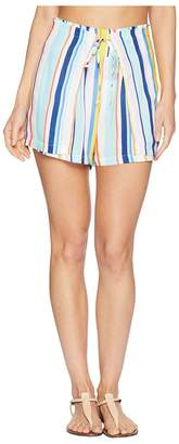 Nanette Lepore Amalfi Coast High-Waist Wrap Shorts Cover-Up Women's Swimwear