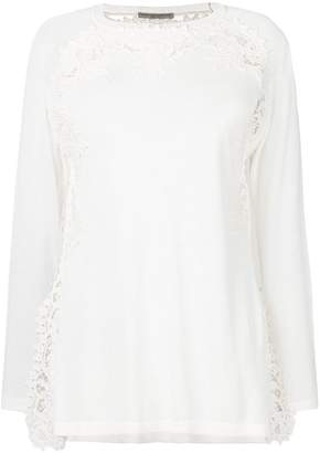Ermanno Scervino embroidered trim top