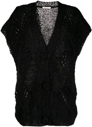 Mes Demoiselles short-sleeved knit cardigan