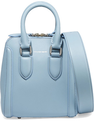Alexander McQueen - The Heroine Small Leather Shoulder Bag - Blue $1,750 thestylecure.com