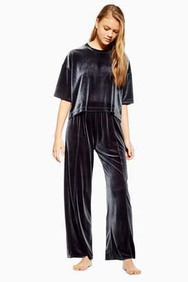 Topshop Velvet Pleated Pyjama Trousers