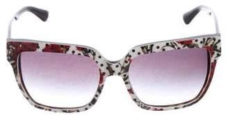 Dolce & Gabbana Floral Printed Sunglasses