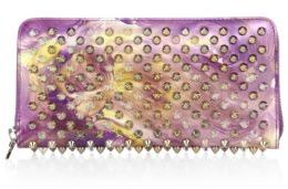Christian Louboutin  Christian Louboutin Panettone Spiked Patent Leather Wallet