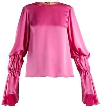 Roksanda Nezu gathered-detail satin blouse