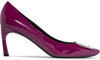Roger Vivier Belle Vivier Trompette Patent-leather Pumps - Plum