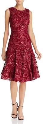 Carmen Marc Valvo Sequin Soutache Dress
