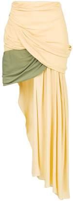 Jacquemus draped asymmetric skirt