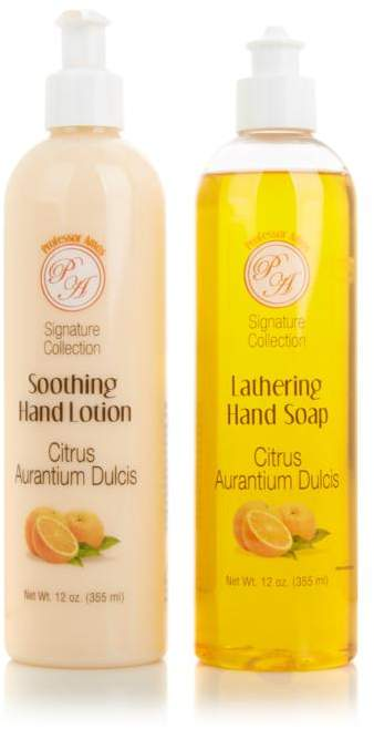 Professor Amos Signature Supersize 12 fl. oz. Hand Soap & Lotion Duo - Citrus Zest