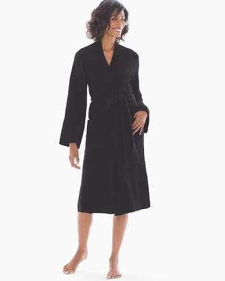 Natori N By Joie Ribbed Chenille Wrap Robe Black