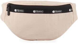Le Sport Sac Carlin Croc-Embossed Nylon Belt Bag