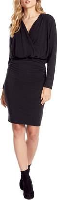 Michael Stars Jules Cross Front Stretch Jersey Dress