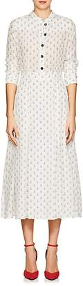 Barneys New York Women's Floral Silk Crêpe De Chine Maxi Shirtdress