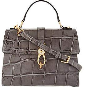 Dooney & Bourke Croco Embossed Leather SatchelHandbag-Claire