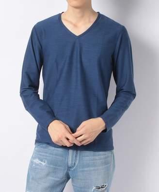 Men's Bigi (メンズ ビギ) - 【50%OFF】メンズビギVネック長袖Tシャツ / スラブインレイメンズグレーL【Men