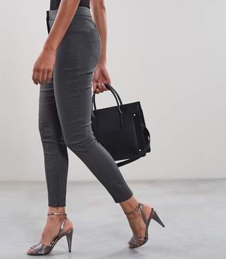 Reiss Arla Jacquard - Seam Detail Skinny Trousers in Blue Smoke