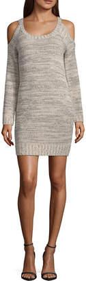 My Michelle Long Sleeve Sweater Dress-Juniors