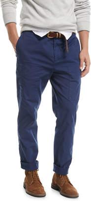 Brunello Cucinelli Leisure-Fit Cargo Pants Dark Blue