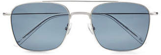 Aspinal of London Aerodrome Aviator Sunglasses & Case Set