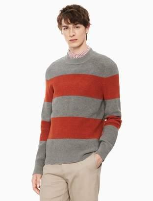 Calvin Klein cotton wool striped crewneck sweater