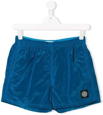 Stone Island Junior TEEN logo patch swim shorts