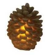 """Northlight 3.25"""" Brown Battery Operated Flameless LED Lighted Flickering Pine Cone Christmas Candle"""