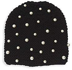 Jennifer Behr Women's Gretal Imitation Pearl Knit Beanie
