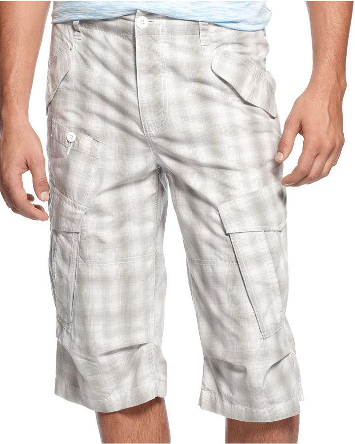 American Rag Shorts, Plaid Poplin Messenger Shorts