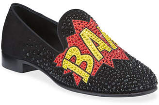 Giuseppe Zanotti Men's Bam Graphic Studded Formal Slippers