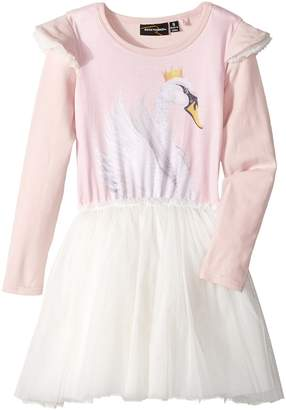 Rock Your Baby Swan Lake Long Sleeve Circus Dress Girl's Dress