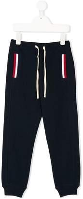 Sun 68 Kids knit rib details trousers
