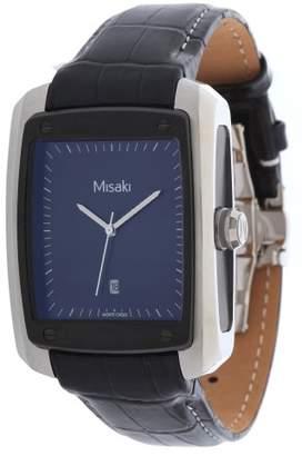 Misaki Women's Quartz Watch with Black Dial Analogue Display Quartz Stainless Steel QCRW7E