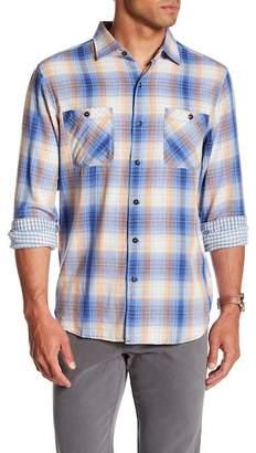 Tommy Bahama Duble Ombre Standard Fit Plaid Sport Shirt