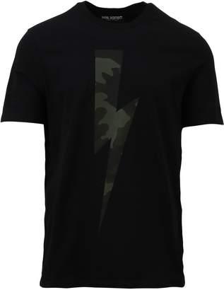 Neil Barrett Military Print Crewneck T-shirt