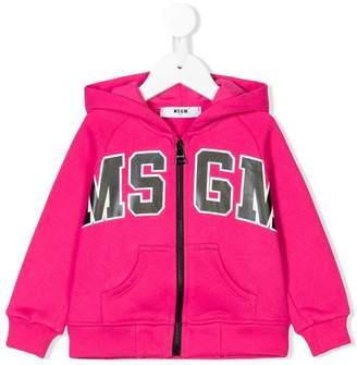 MSGM zipped hooded jacket