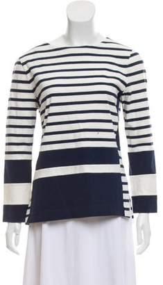Celine Striped Long Sleeve Top White Striped Long Sleeve Top